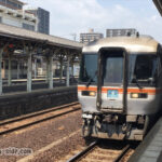 松阪駅に到着するワイドビュー南紀