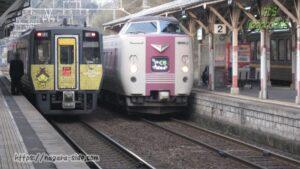 電車と気動車が並ぶ山陰本線出雲エリア
