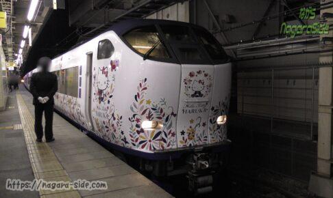 米原駅に到着したはるか(2021春廃止)