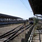 駅舎から見る美濃赤坂駅