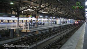 長さが際立つ福井駅のホーム