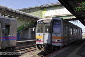 米子駅で入れ替え作業を行うキハ120-336