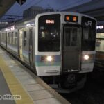 中津川駅に到着するJR東日本所属211系3000番台