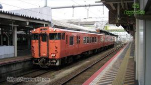 米子駅に停車する浜田行きキハ47