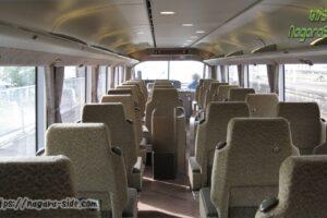 途中で配列が入れ替わる283系のパノラマグリーン車