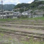 辰野駅の留置線と貨物線