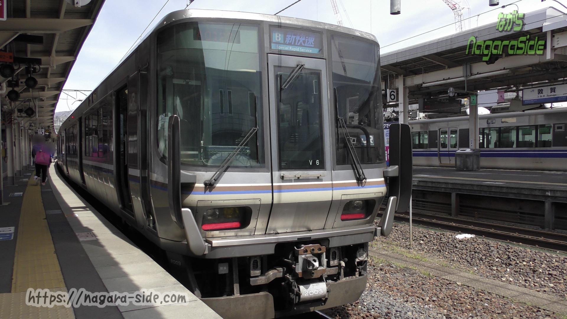 敦賀駅で折り返す新快速