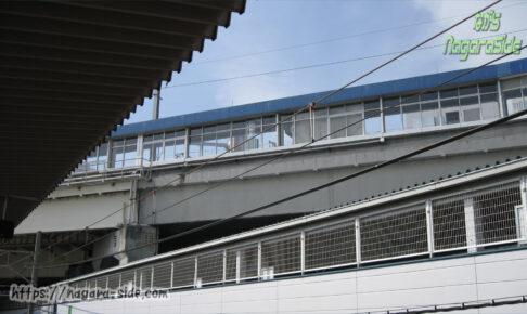 西明石駅在来線ホームから見た新幹線ホーム
