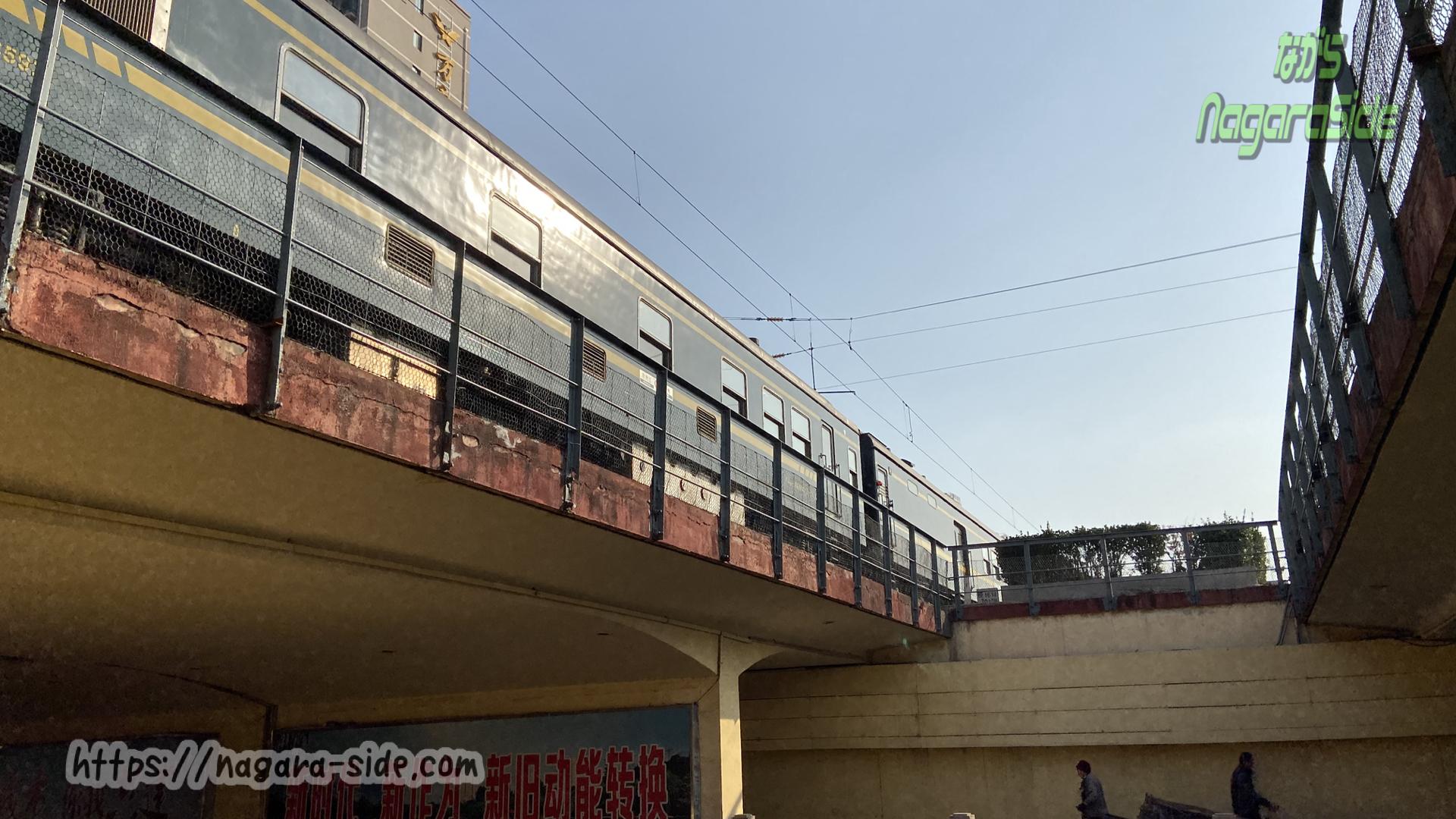 中国鉄路の多くはアンダーパス
