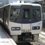 岡山駅で発車を待つ8000系しおかぜ