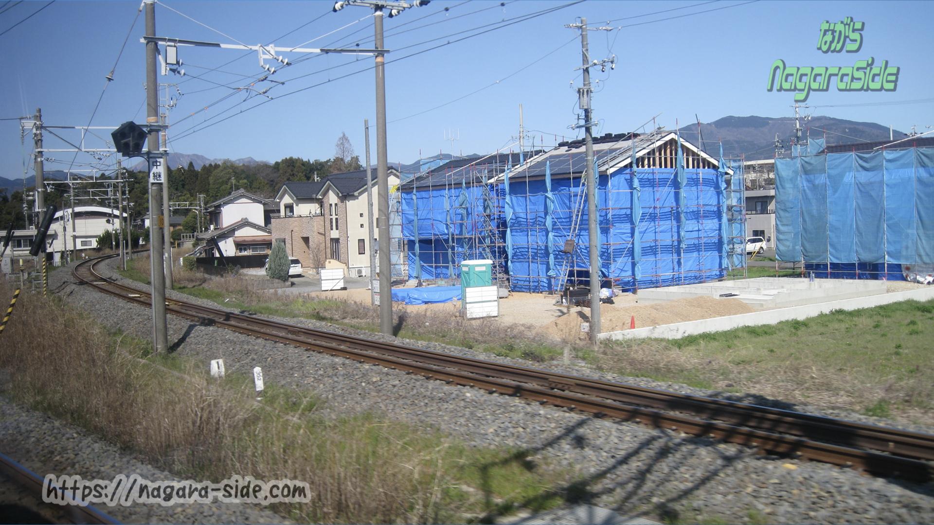 美濃赤坂支線の分岐の風景