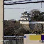 明石駅から見える明石城坤櫓