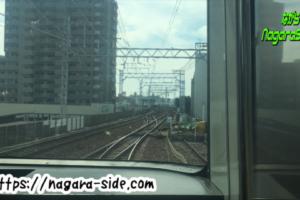 津島駅へ進入する尾西線列車