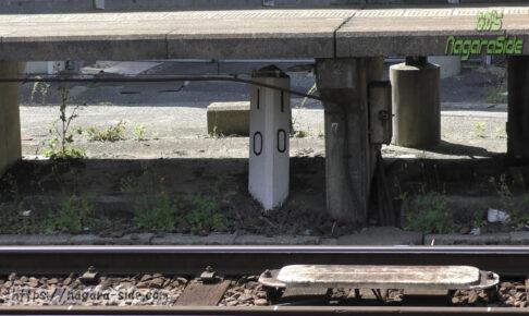津新町駅の名古屋線10キロポスト
