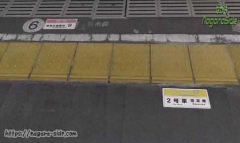 尾張一宮駅の乗車位置案内